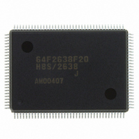 IC H8S MCU FLASH 256K 128-QFP
